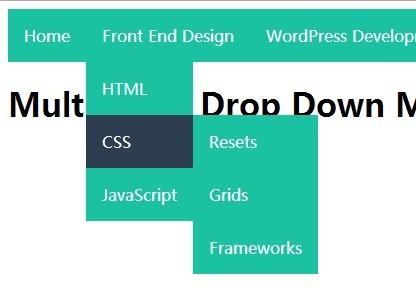 Create A Multi Level Drop Down Menu With Pure Css Css Script