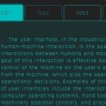 Scifi-style Animated Tabs Interface with Pure CSS/CSS3