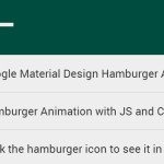 Material Design Hamburger Animation with JS and CSS3