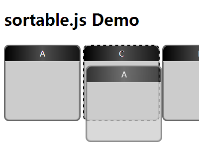Native HTML5 Drag and Drop – sortable.js