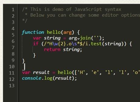 Lightweight Code Editor With Pure Javascript Codeprinter
