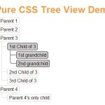 Minimalist Tree View In Pure CSS