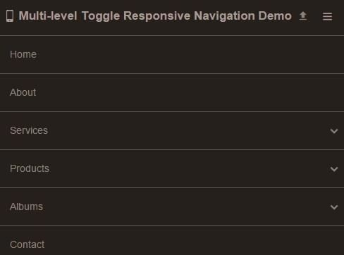 Multi-level Toggle Responsive Navigation Menu using Pure CSS