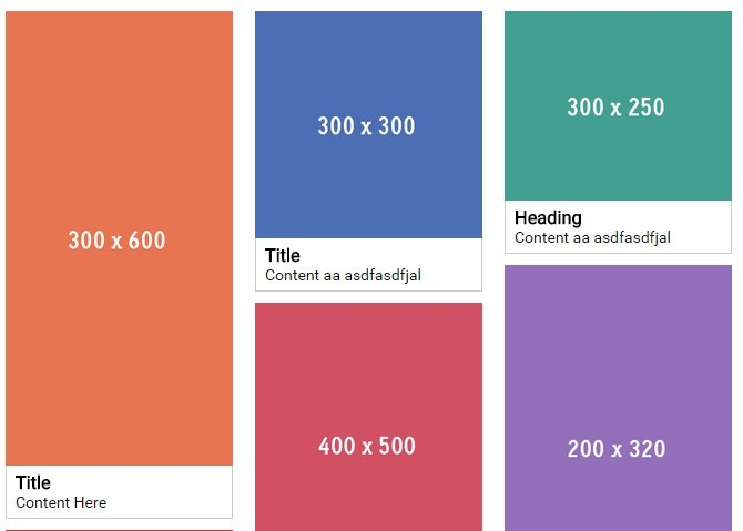 Pinterest-like Responsive Fluid Grid Layout with Pure