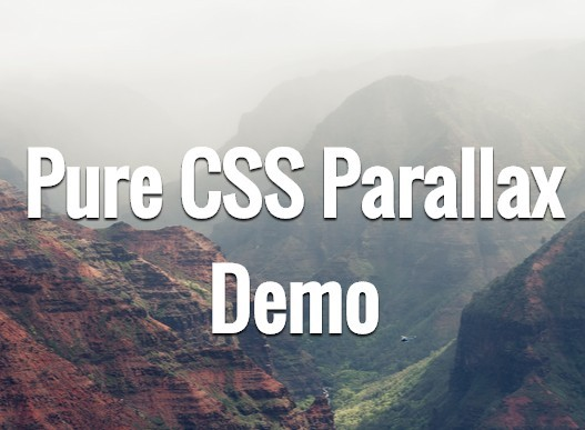 Pure css parallax scrolling effect css script - Css scrollable div ...