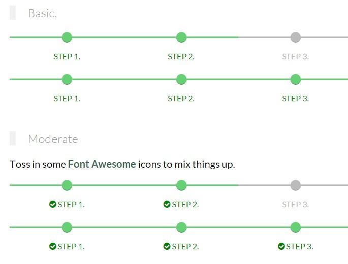 Responsive Step Progress Indicator With Pure Css Css Script