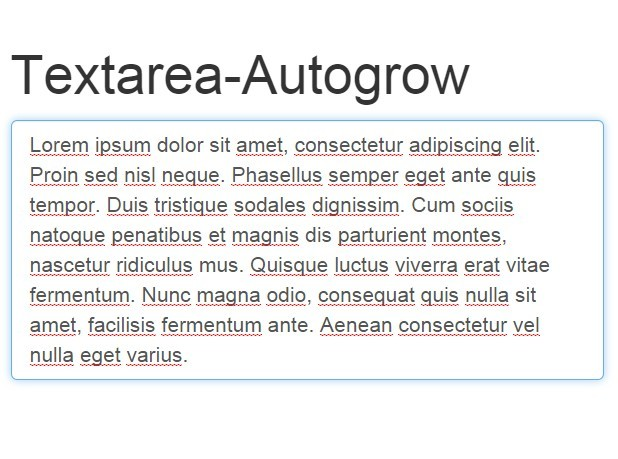 javascript library for auto grow textarea based on its content css script