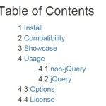 Generating A Table Of Contents with Pure JavaScript – TOC