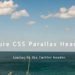 Twitter-like Header Parallax Effect Using Pure CSS / CSS3