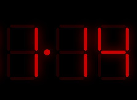 Animated Digital Led Clock With Javascript And Css Css