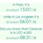 JavaScript Library To Display Current Local Times Around The World – jsclock