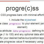 Slim Progress Bar with Pure CSS – progre(c)ss
