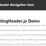 Auto Show / Hide Sliding Header with Pure JavaScript – slidingHeader.js