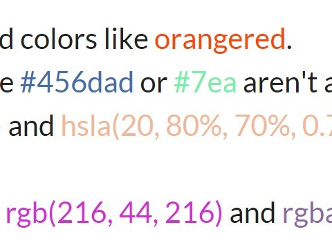 Translating Color Codes To Actual Colors – Just Show Me The Colors