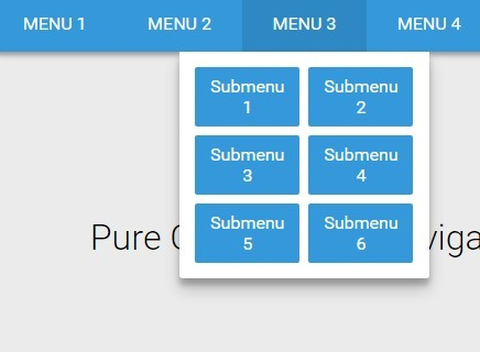 Material style responsive dropdown navigation with pure for Material design table css