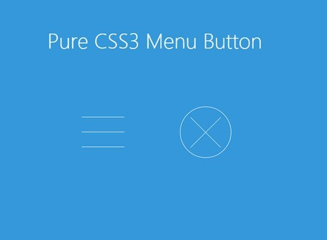 Pure CSS3 Animated Hamburger Toggle | CSS Script