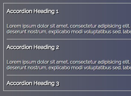 Responsive Accessible Accordion with CSS3 Transitions