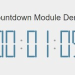 Pure JavaScript Digital Countdown Timer – Countdown Module