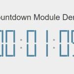 Pure JavaScript Digital Countdown Timer – Countdown Module