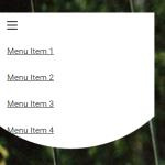 Pure CSS Material Morphing Menu