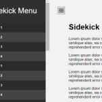 Pure CSS Sidebar Toggle Menu – Sidekick