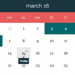 Beautiful Pure JavaScript Date Picker With Events Support – Datepickk.js