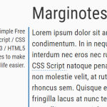 Easy Side Marginal Note In Vanilla JavaScript – marginotes.js