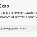 JavaScript Library For Old Internet Explorer Detection – IE Cap