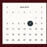Material Design Date Picker With Vanilla Javascript