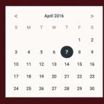 Material Design Date Picker With Vanilla Javascript