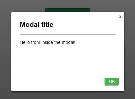 simple responsive css only modal dialog | css script