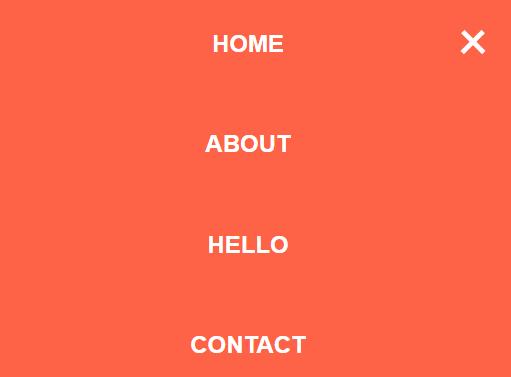 Pure CSS / CSS3 Fullscreen Hamburger Menu - CSS Script
