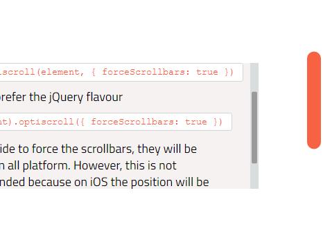 Lightweight customizable scrollbar library optiscroll - Div with scrollbar css ...