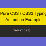 Pure CSS Text Typing Animation