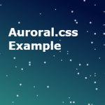 Animated Gradient Background In Pure CSS – Auroral.css