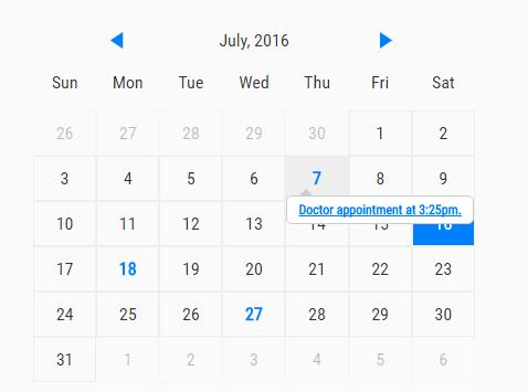Best Free calendar In JavaScript & CSS - CSS Script