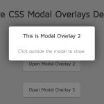Minimal Overlay Modal In Pure CSS