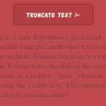 Truncating Multi-line Text By Height – Shave.js