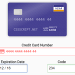 Tiny JS Library To Create Interactive Payment Form – DatPayment