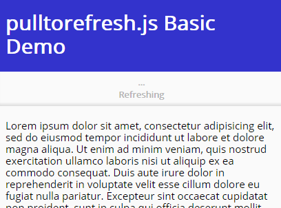 Easy Pull To Refresh Library With Pure JavaScript – pulltorefresh.js