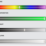 Minimal HSLA Color picker With Pure JavaScript