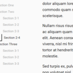 Animated Side TOC Nav For Long Web Content
