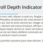 Pure CSS Scroll Depth Indicator