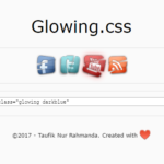 Easy Glow Effect In Pure CSS/CSS3 – Glowing.css
