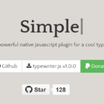 Simple Typewriter Effect In Pure JavaScript – TypewriterJS