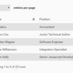 Lightweight Vanilla Data Table Component
