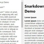 Minimal Markdown Parser In Pure JavaScript – Snarkdown