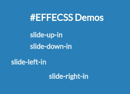 Lightweight CSS Animation Framework – Efecss.css
