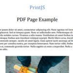Custom Webpage Printing library In Pure JavaScript – Print.js