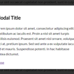 Pretty Simple Modal Window In Pure CSS
